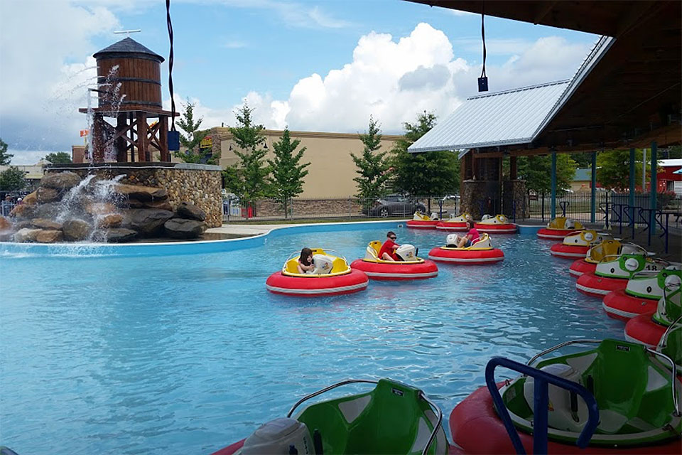 Bear Country Fun Park Bumper Boats in Pigeon Forge