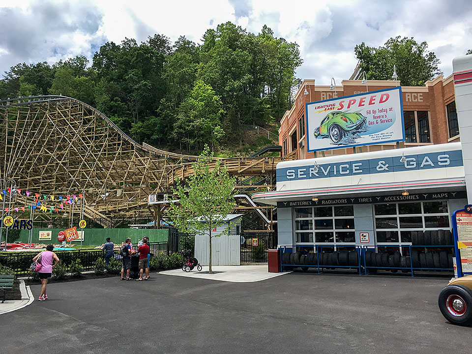 Lightning Rod coaster at Dollywood in Pigeon Forge, Tennessee