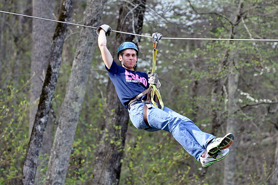 Zip lining in Pigeon Forge, TN